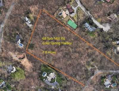 Cold Spring Hrbr Single Family Home For Sale: 68 Saw Mill Rd