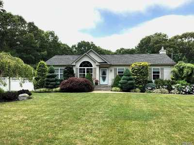 Center Moriches Single Family Home For Sale: 296 Private Road Ave