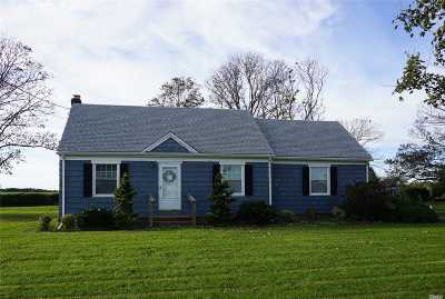Cutchogue Single Family Home For Sale: 8745 Oregon Rd