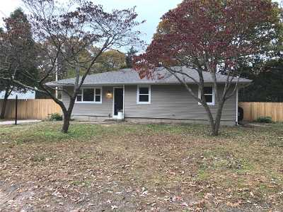 Mastic NY Single Family Home For Sale: $225,000