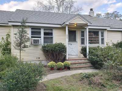 Center Moriches Single Family Home For Sale: 173 Wading River Rd