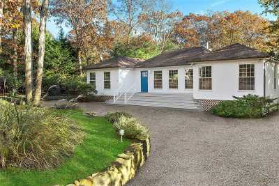 East Hampton Single Family Home For Sale: 4 Oyster Pond Ln