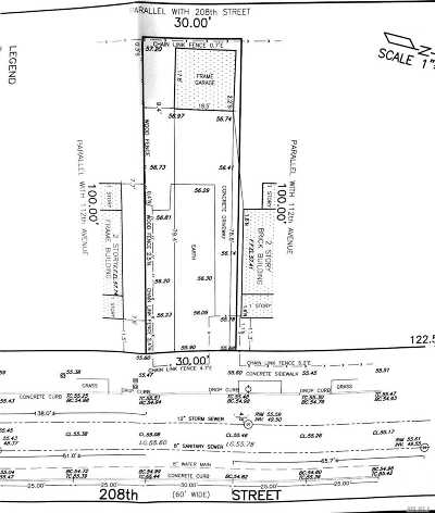 Queens Village Residential Lots & Land For Sale: 112-14 208 St