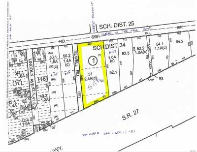 East Moriches Residential Lots & Land For Sale: Head Of The Neck Rd