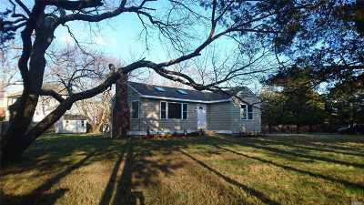 Center Moriches Single Family Home For Sale: 5 South St