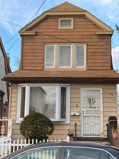 Woodhaven Single Family Home For Sale: 80-35 90 Ave
