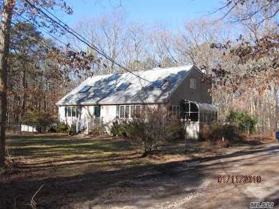 East Moriches Single Family Home For Sale: 142 Halsey Manor Rd
