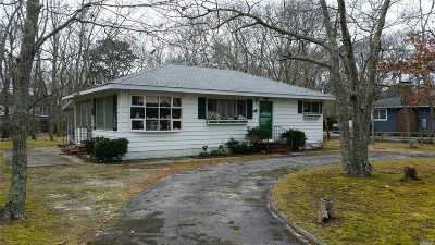 Hampton Bays Single Family Home For Sale: 9 W Bayview Dr