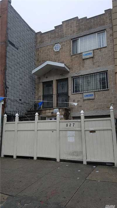 Brooklyn Multi Family Home For Sale: 827 Gates Ave