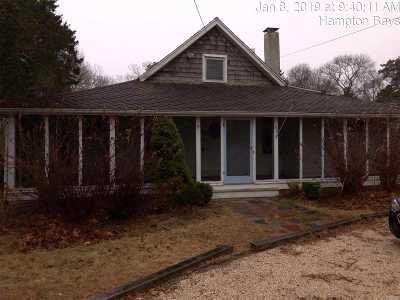 Hampton Bays Single Family Home For Sale: 89 W Tiana Rd