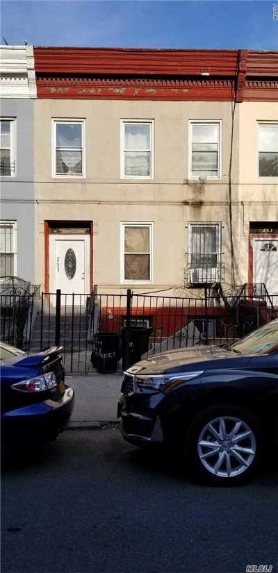 Brooklyn Multi Family Home For Sale: 251 E 23rd St