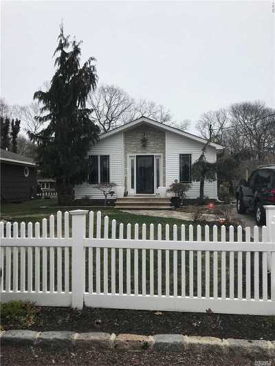 Mastic Beach Single Family Home For Sale: 335 Cypress Dr
