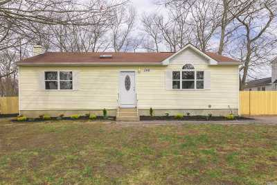 Yaphank Single Family Home For Sale: 346 Revilo Ave