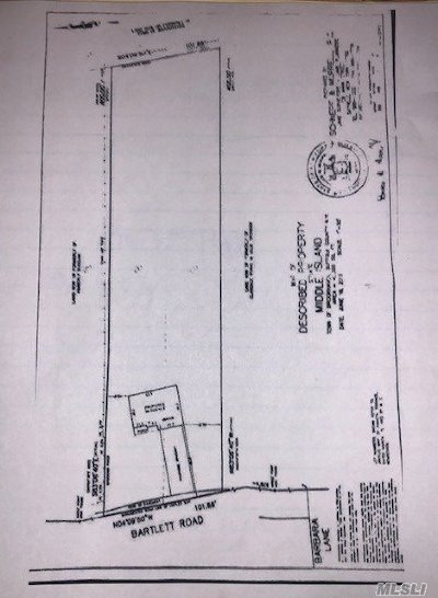 Middle Island Residential Lots & Land For Sale: W Bartlett Rd