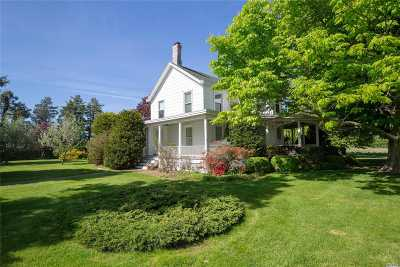 Cutchogue Single Family Home For Sale: 26155 County Road 48