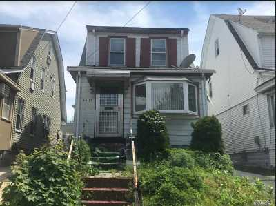 Jamaica Single Family Home For Sale: 84-25 168th Pl