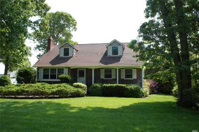 Center Moriches Single Family Home For Sale: 133 Holiday Blvd