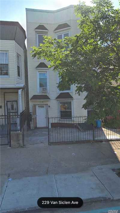 Brooklyn Multi Family Home For Sale: 229 Van Siclen Ave