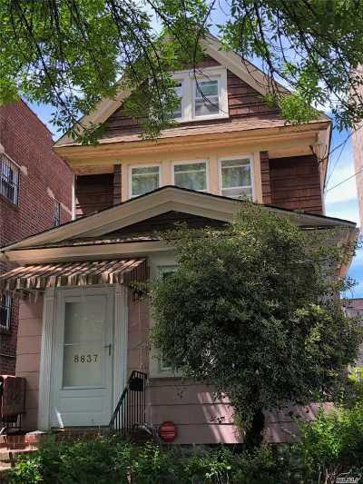 Elmhurst Single Family Home For Sale: 88-37 54 Ave