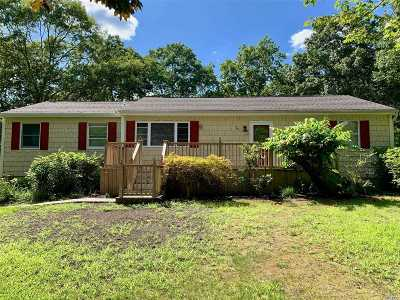 Center Moriches Single Family Home For Sale: 26 Williams St
