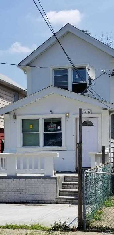 Ozone Park Single Family Home For Sale: 11971 130th St