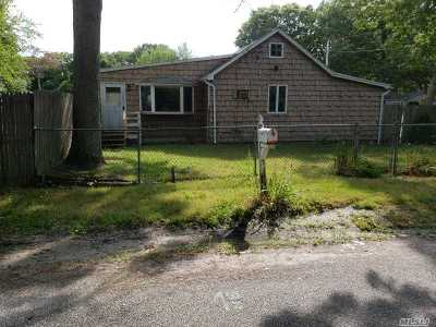 Mastic Beach Single Family Home For Sale: 111 Alder Dr