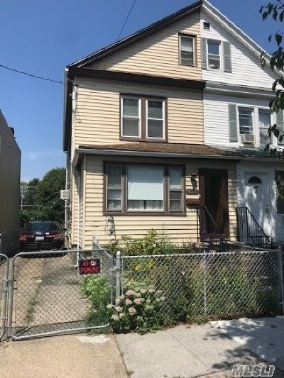 Elmhurst Single Family Home For Sale: 85-13 56th Ave