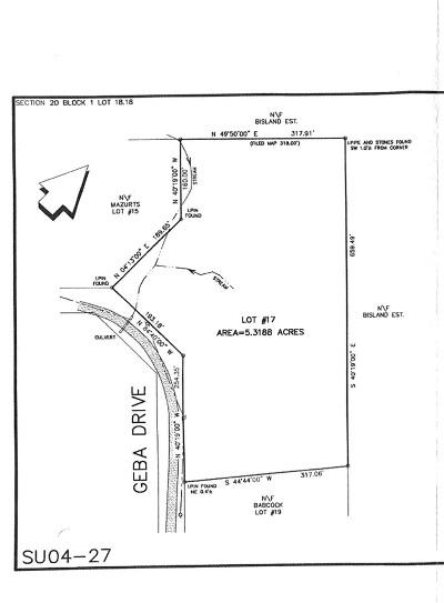 Residential Lots & Land For Sale: (20.-1-18.18) Geba Drive