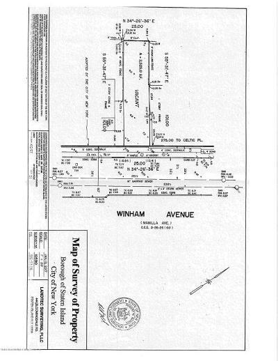 Staten Island Residential Lots & Land For Sale: 117 Winham Avenue