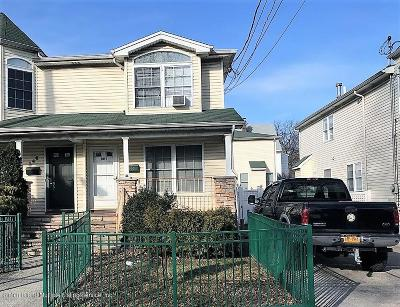 Staten Island Semi-Attached For Sale: 344 Bement Avenue