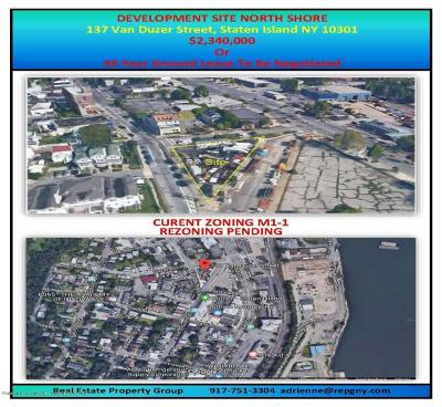 Staten Island Residential Lots & Land For Sale: 137 Van Duzer Street