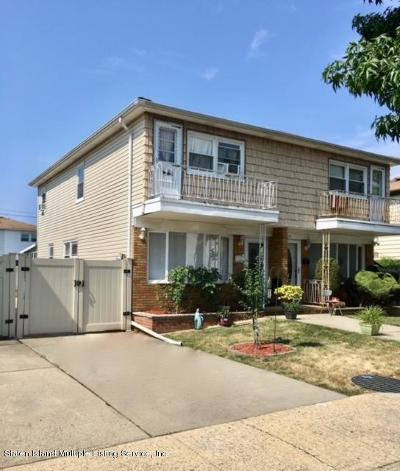 Staten Island Semi-Attached For Sale: 344 Hamden Avenue