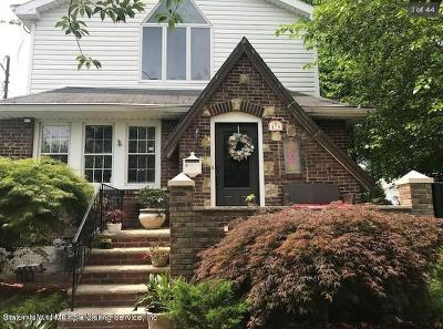 Staten Island Single Family Home For Sale: 478 Jefferson Boulevard