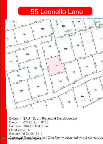Staten Island Residential Lots & Land For Sale: 55 Leonello Lane