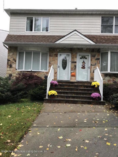 Staten Island Semi-Attached For Sale: 51 Tangelwood Drive