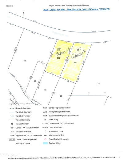 Staten Island Residential Lots & Land For Sale: 40 Cedarcliff Road