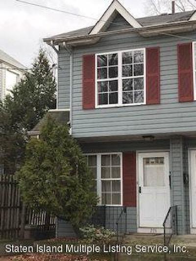 Staten Island Semi-Attached For Sale: 274 Delafield Avenue