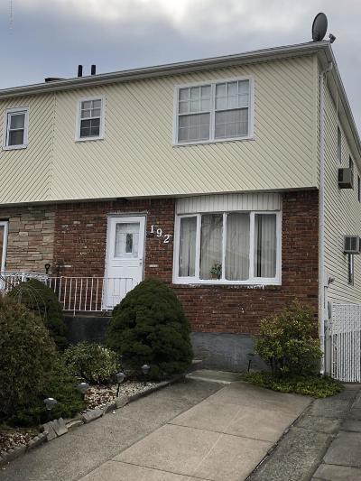 Staten Island Semi-Attached For Sale: 192 Petrus Avenue