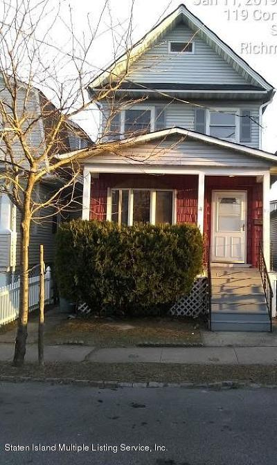 Staten Island Single Family Home For Sale: 119 Cortlandt Street
