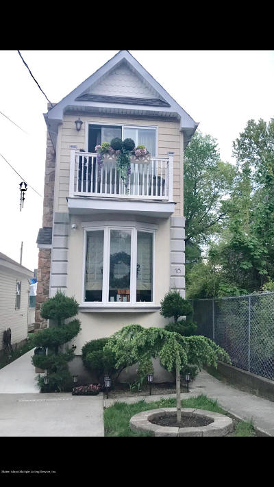 Staten Island Single Family Home For Sale: 16 Cornish Street