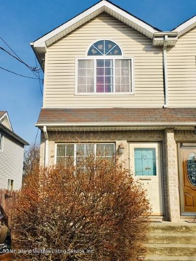 Staten Island Semi-Attached For Sale: 53 Confederation Place