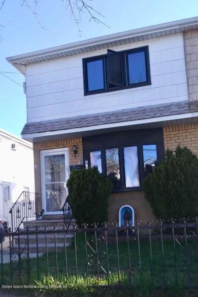 Staten Island Semi-Attached For Sale: 490 Naughton Avenue
