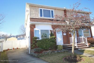 Staten Island Semi-Attached For Sale: 53 Adlai Circle