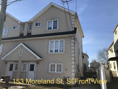 Staten Island Semi-Attached For Sale: 153 Moreland Street
