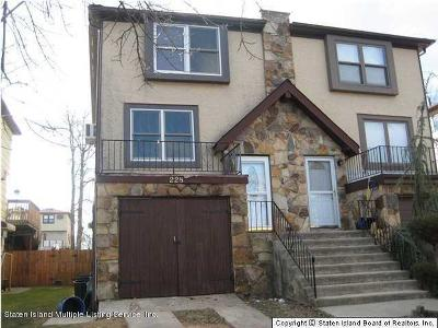 Staten Island Semi-Attached For Sale: 228 Shotwell Avenue