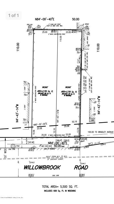 Staten Island Residential Lots & Land For Sale: 1209 Willowbrook Road