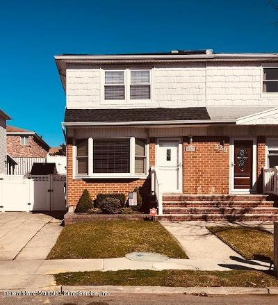 Staten Island Semi-Attached For Sale: 337 Cortelyou Avenue