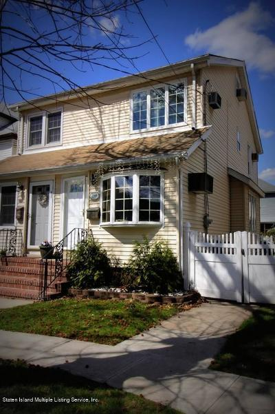 Staten Island Semi-Attached For Sale: 155 Lathrop Avenue