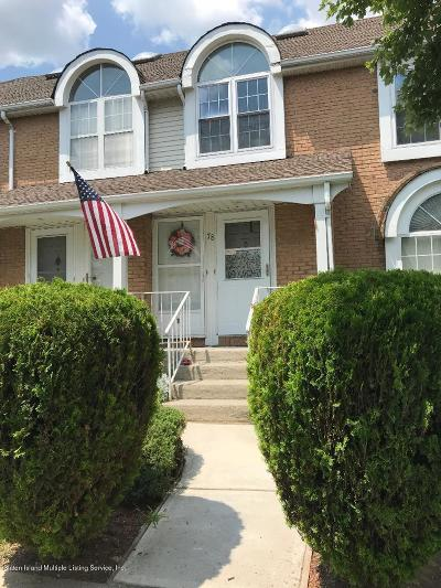 Staten Island Condo/Townhouse For Sale: 78 Debbie Street #B