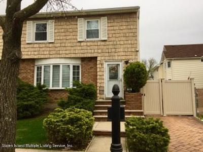 Staten Island Semi-Attached For Sale: 108 Moffett Street
